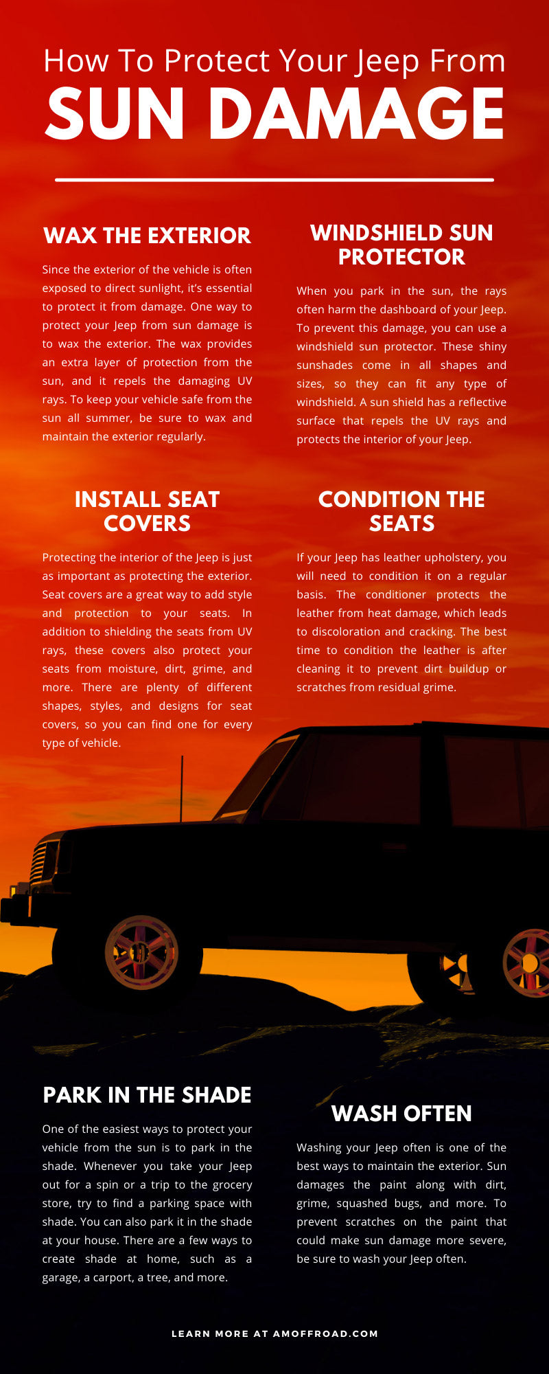 How To Protect Your Jeep From Sun Damage