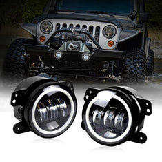 Jeep Wrangler 4 Inch Halo Fog Lights