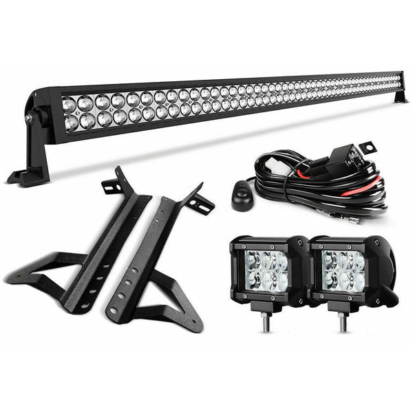 "52""inch LED Light Bar+ Pod Lights+ Mount Bracket ( 07-18 Wrangler JK )"