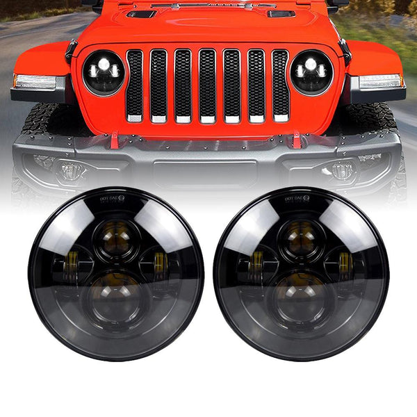Jeep JL Smoked Lens LED Headlights