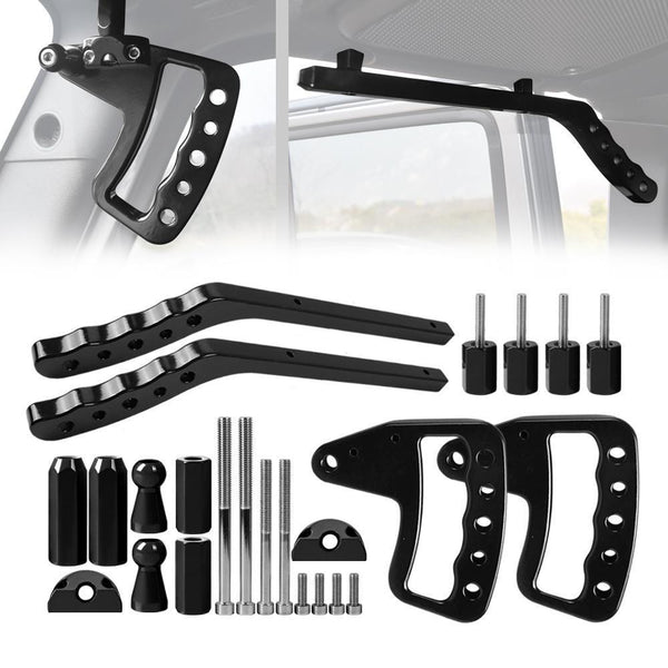 ALUMINUM GRAB HANDLE FRONT & REAR BLACK