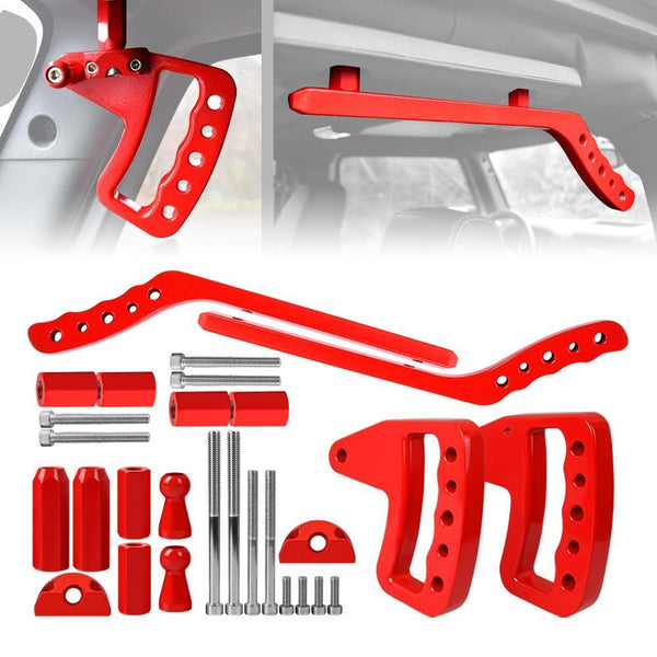 ALUMINUM GRAB HANDLE FRONT & REAR RED