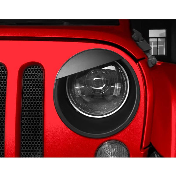 Jeep Wrangler Black Angry Eyes Head Light Bezels