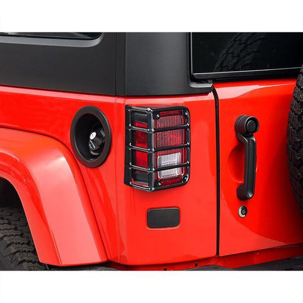 Jeep Wrangler Black Tail Light Covers