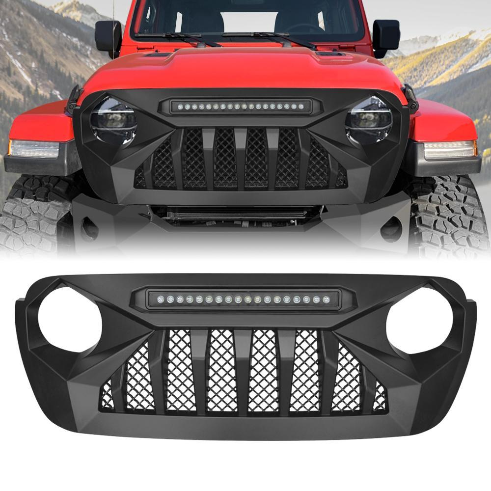 19 20 Jeep Wrangler Jl Gladiator Grill W Off Road Lights