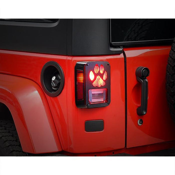 Jeep Wrangler Dog Paw Tail Light Guards