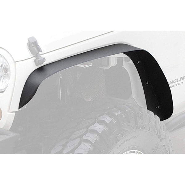 Flat Fender Flares Front & Rear - 4 PCs Set (07-18 Jeep Wrangler JK)