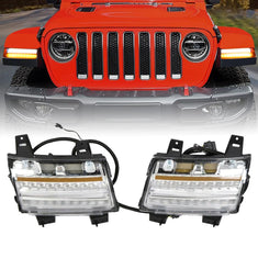 Front Fender Flare LED Lights for 18-20 Jeep Wrangler JL & Gladiator JT