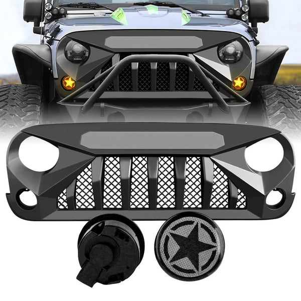 Gladiator Vader Grille & Smoked Star Turn Lights  Combo (07-18 Wrangler JK)