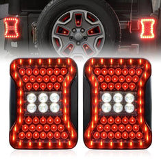 Jeep Wrangler JK JL Look Tail Lights