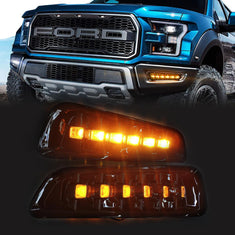 LED Daytime Running Light DRL Fog Lights for 2017-2019 Ford F150 Raptor
