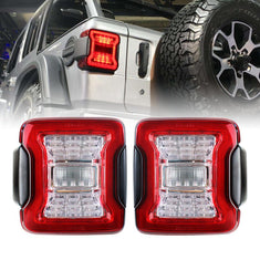 JK to JL Conversion Tail Lights - Red for 07-18 JEEP WRANGLER JK/ JKU | In stock on May 20