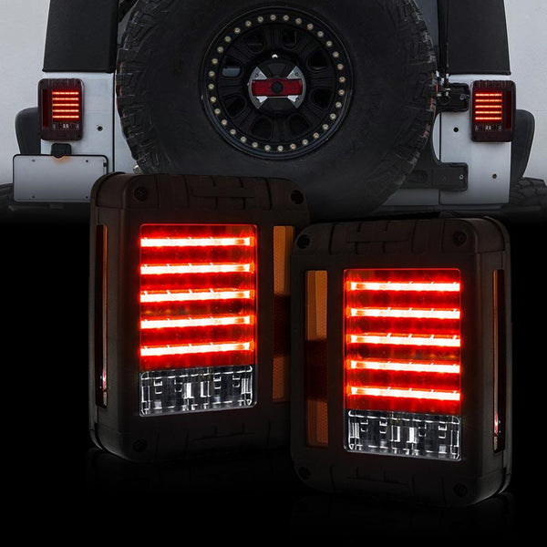 Jeep Wrangler Transparent Cover LED Tail Lights