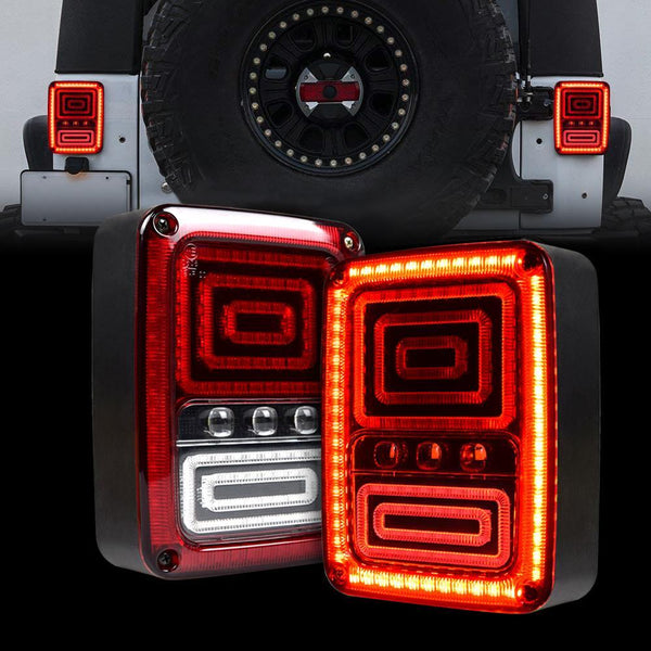 Jeep Wrangler Snake LED Tail Lights