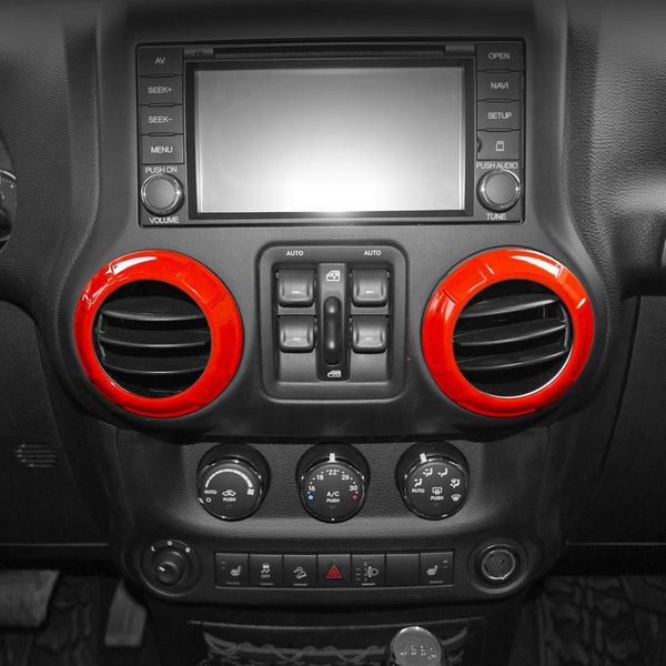 Jeep Wrangler Air Conditioning Vent Red Trim Kits