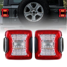 Red LED Tail Lights for 18-21 Jeep Wrangler JL