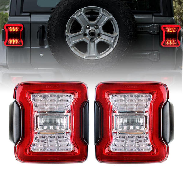 Red LED Tail Lights (18-20 Jeep Wrangler JL)