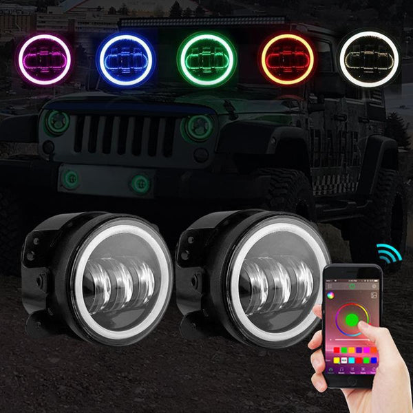 Jeep Wrangler RGB Halo Fog Lights