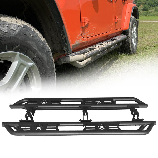 [Pre-order] Side Step Bars - 5 Star Type (18 - 20 Jeep Wrangler JL 4 Door)