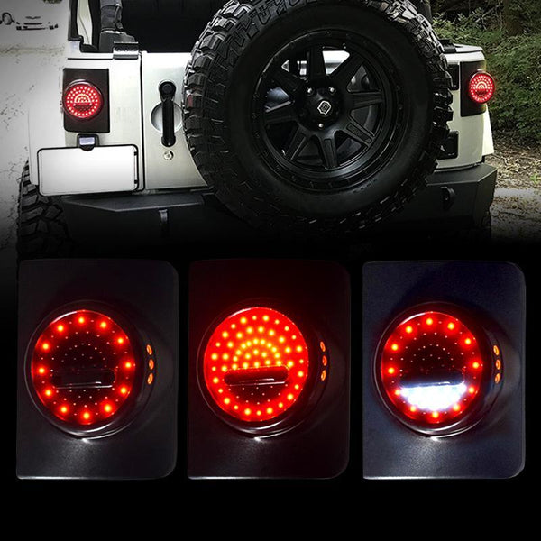 wrangler jk smile face tail light amoffroad