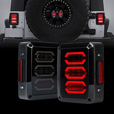 Jeep Wrangler Smoked Avenger LED Tail Lights