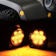 Jeep Wrangler Smoked Side Marker Lights