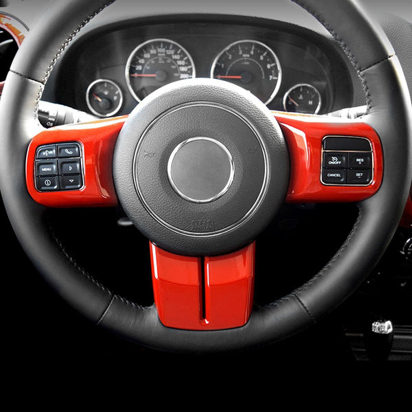 Jeep Wrangler Steering Wheel Red Interior Trim Kits