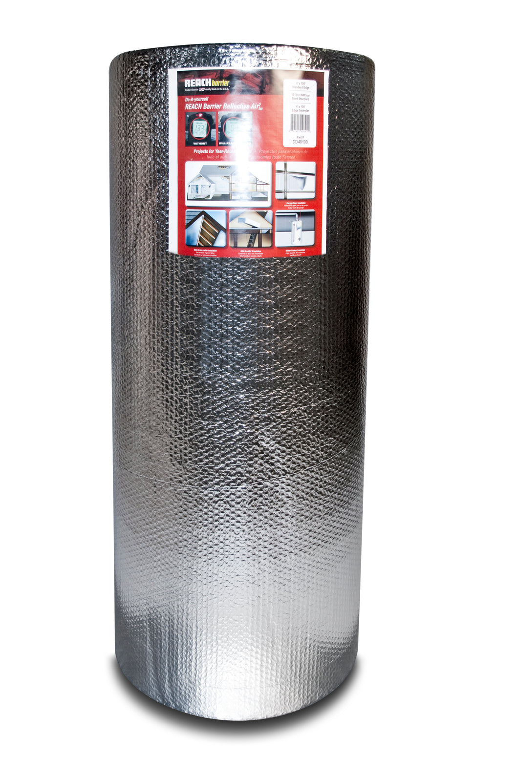 Reach Barrier Reflective Air² Roll 4'x250' (Double Reflective/Double Bubble)