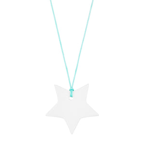 Women's off white porcelain star on a string necklace