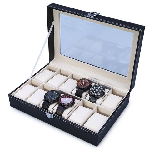 12 Grids Watch Case Jewelry Storage Organizer | Clocks & Rocks