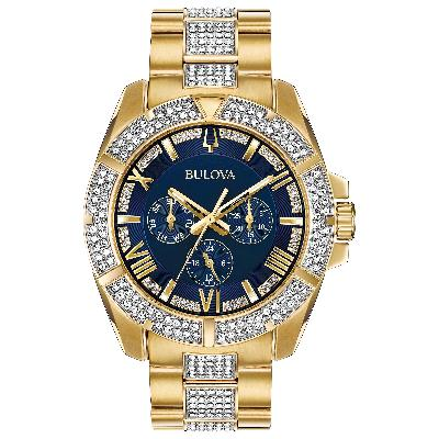 Bulova Men's Analog Quartz Watch with Two-Tone-Stainless-Steel Strap 98C128 | Clocks & Rocks
