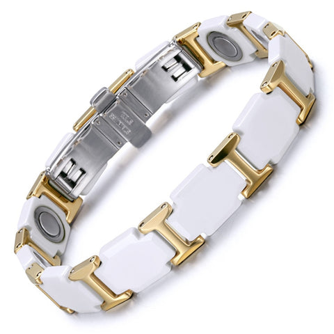Jewelry Ceramic Tungsten Steel Bracelet Magnet Bracelet Valentine's Day Couple Trend Bracelet | Clocks & Rocks