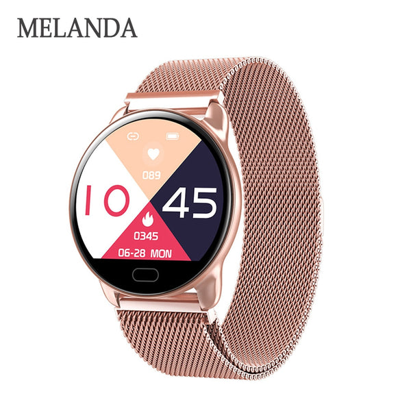 MELANDA Female Fitness Smart Watch Women Running Reloj Heart Rate Monitor Bluetooth Pedometer Touch Intelligent Sports Watch | Clocks & Rocks