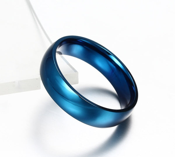 Classic 6mm Blue Luxury Ring | Clocks&Rocks