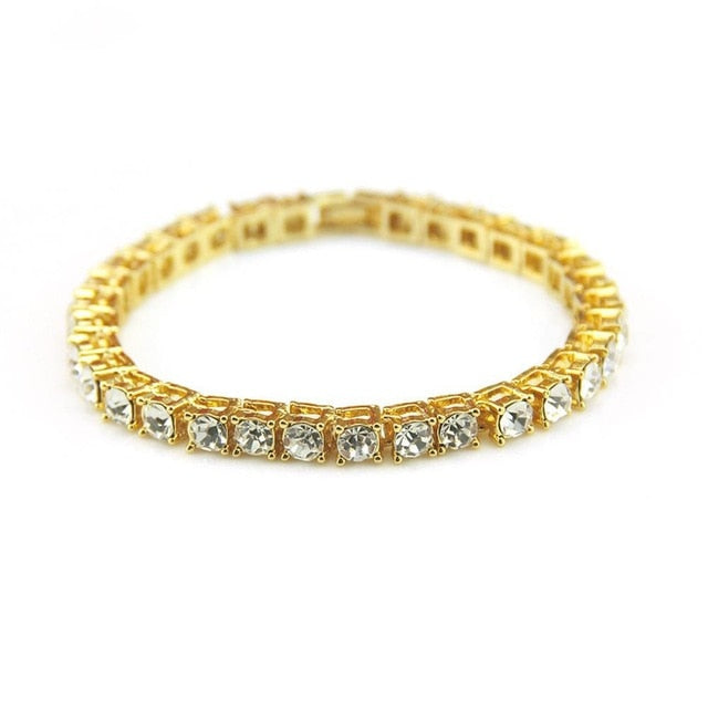 Tennis Chain Luxury Bracelets Gold | With Free Shipping at CLOCKS&ROCKS