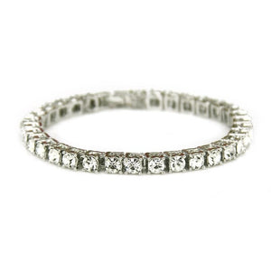 Tennis Chain Luxury Bracelets Silver | With Free Shipping at CLOCKS&ROCKS