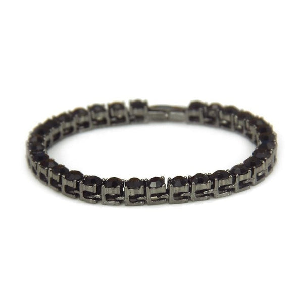 Tennis Chain Luxury Bracelets Black | With Free Shipping at CLOCKS&ROCKS