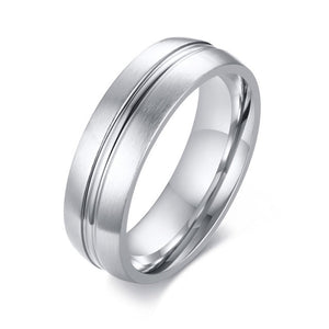 Silver Classic 6mm Cocktail Ring for Men | Free shipping at Clocks&Rocks