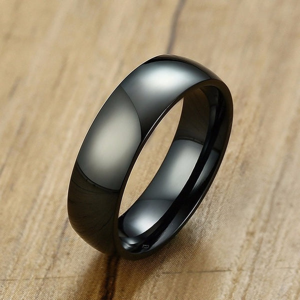 Classic 6mm black Luxury Ring | Clocks&Rocks