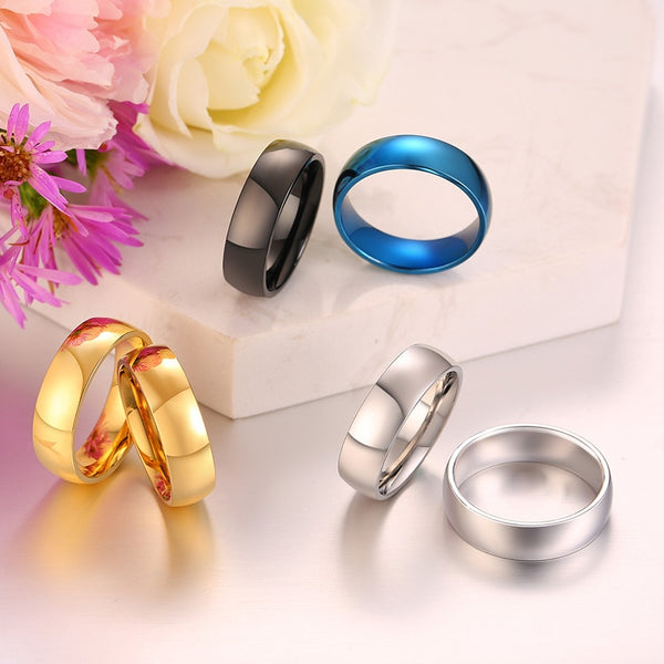 Classic 6mm Multi-Colour Luxury Ring | Free Shipping at Clocks&Rocks