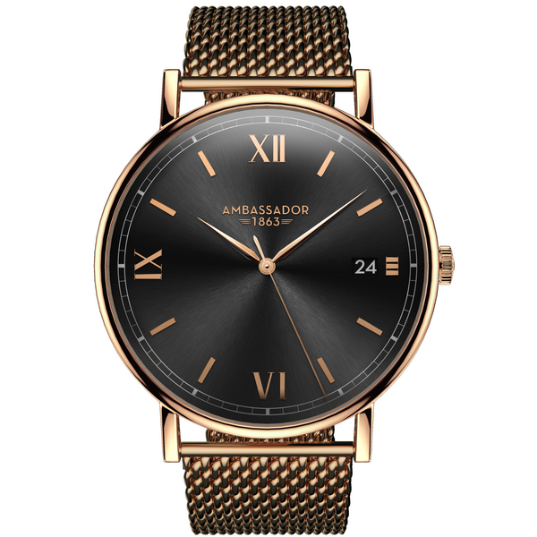 Heritage 1863 - Rose Gold Mesh | Clocks & Rocks