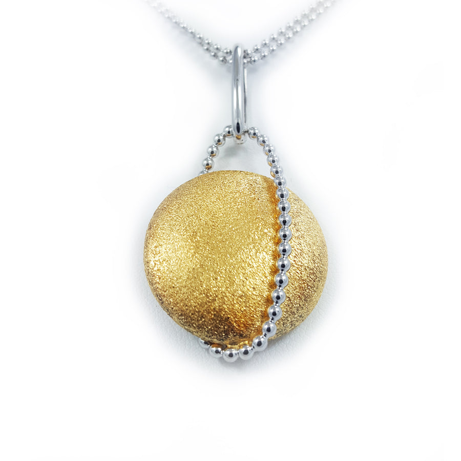 Silver necklace with yellow gold overlay