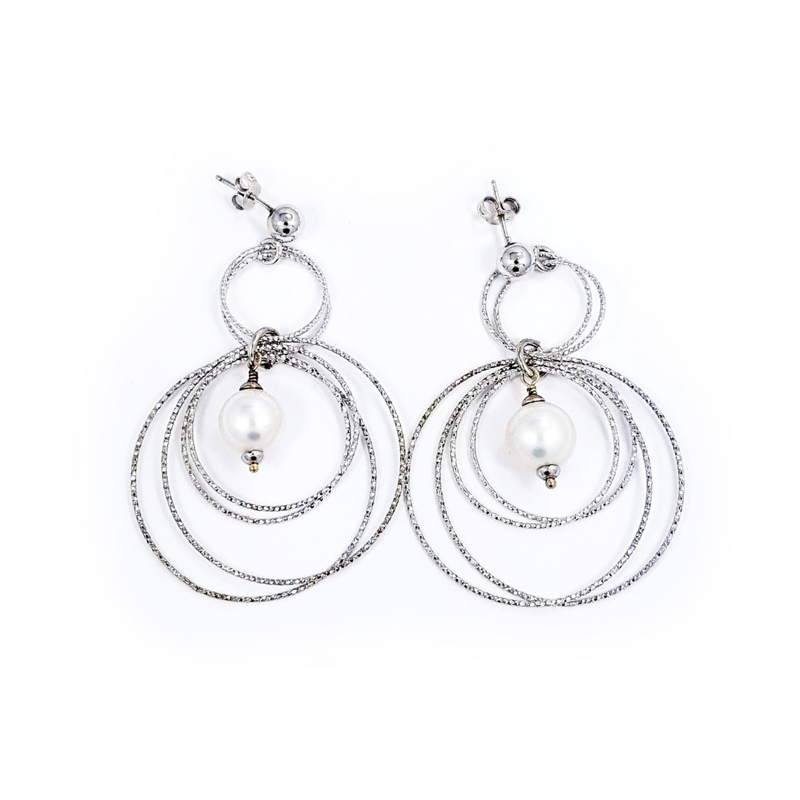 Silver Earrings - fresh water pearls from Majorca