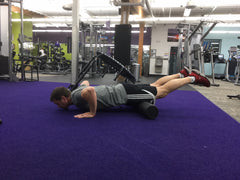 Knee Push-up Down Position