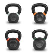 Fitness Hardware Cast Iron Powder Coated Kettlebells (13lbs, 22lbs, 31lbs, 40lbs)