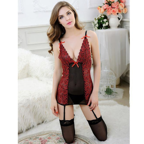 Black and Red Sexy Babydoll