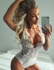 2018 New Sexy Lingerie Sexy Hot Erotic for Women Sleepwear See Though Bodysuit Plus Size 5XL Exquisite Lace Sexy Teddy R80503
