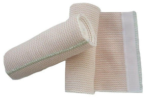 Cotton Elastic Bandages 6ft, Hook and Loop Closure(13 to15 ft. stretched) 2pc - shalav5