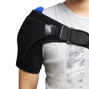 Adjustable Shoulder Brace Pressure Pad Compression Sleeve Back Support Bandage Arm Belt Band for Fitness Therapy Pain Relief