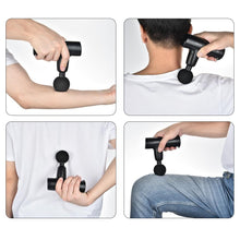 Portable Mini Electric Massage Gun Deep Powerful Tissue Massage Gun  Rechargeable Cordless Muscle Massager Relieve Muscle Pain